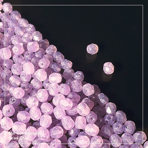 Preciosa Fire Polished Beads 4mm - Lilac Opal