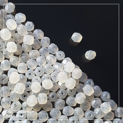 Preciosa Fire Polished Beads 4mm - White Opal