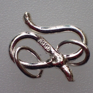 925 Silver Small ''S'' Hook Clasp