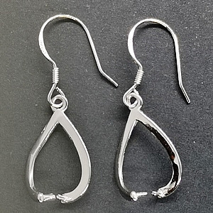 925 Silver Wishbone Earring ''Add a Bead''