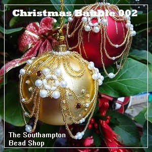 Pattern-3005 Beaded Christmas Bauble 002