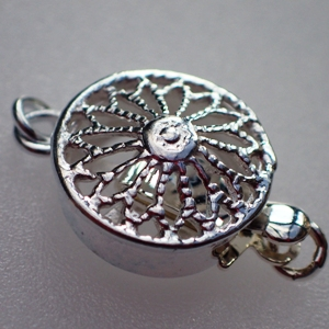 925 Silver Filigree Finished Box Clasp