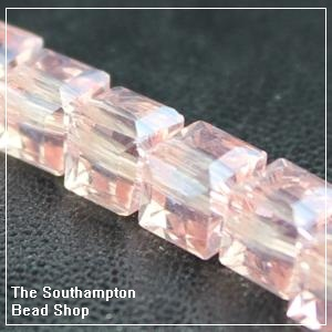 Chinese 6mm Cube Crystals - Rosaline