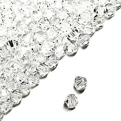 Preciosa Bicones Beads 4mm - Crystal