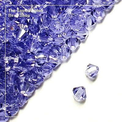 Preciosa Bicones Beads 4mm - Tanzanite