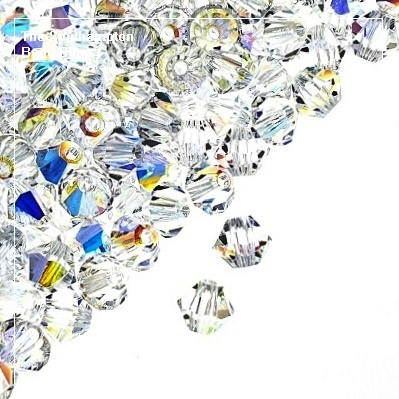 Preciosa Bicones Beads 3mm - Crystal AB