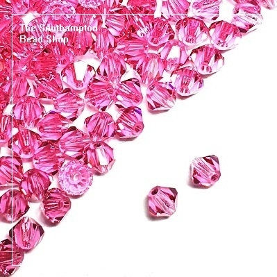 Preciosa Bicones Beads 3mm - Rose